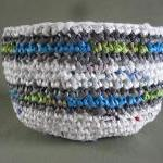 Upcycled Plarn Bowl - Made..